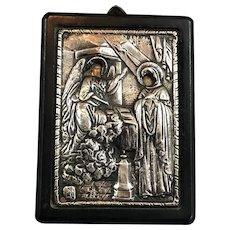 Silver 950 Greek Tradition Art Icon Replica Vintage