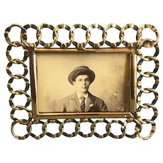 Brass Ring Photo Frame Victorian Antique c1900