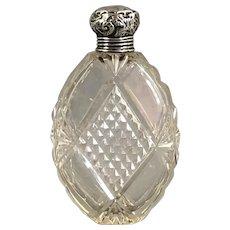 Sterling Silver Top Scent Bottle edwardian Birmingham Antique 1905