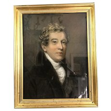Pastel Bust Portrait Of James Rowe English School Antique C1780