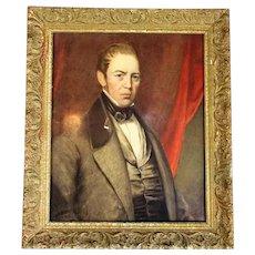 Framed Watercolour Portrait of a Gentleman Antique c1890