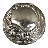 Sterling Silver Pill Trinket Box Antique Edwardian English 1905