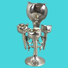 Silver Plate Four Section Epergne by RR Sheffield Antique Victorian