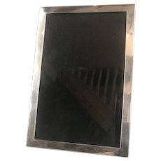 Sterling Silver And Wood Photo Frame Antique Edwardian Birmingham c1918