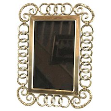 Brass Ring Photo Frame Antique Victorian c1900