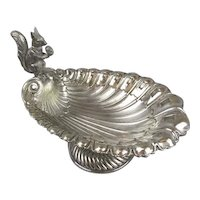 Silver Plated Squirrel Nut Dish Antique Victorian c1890.