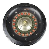 Ebonised Roulette Wheel Antique Victorian c1900