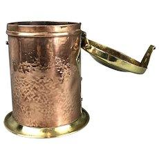 Copper & Brass Arts & Crafts Tea Caddy Antique Victorian c1900