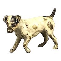 Cold Painted Vienna Bronze Jack Russell Dog Austrian Antique Victorian c1880