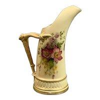 Tall Royal Worcester Blush Porcelain Jug Antique Art Deco 1919