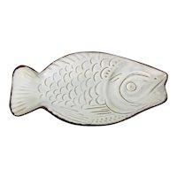 Terracotta Fish Dish Scandinavian vintage c1960