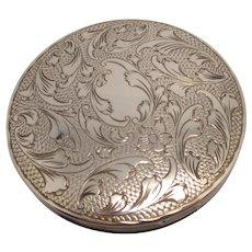 Ladies Compact Silver Vintage Art Deco c1930