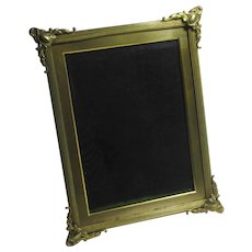 Brass Easel Photo Picture Frame Antique Victorian c1890