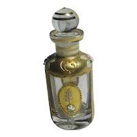 Floral Venetian Glass Scent Bottle Antique Edwardian c1910