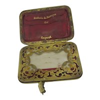 French Leather Purse & Notepad Antique Victorian c1900