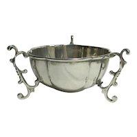 Art Nouveau 3 Legged Sterling Silver Salt Bowl Antique English 1904 by James Deakin & Sons
