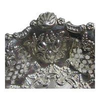 Scallop & Fruits Sterling Silver Bon Bon Dish Vintage Art Deco English by S Blanckensee & Son Ltd