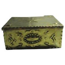 Brass Arts & Crafts Trinket Box Antique Victorian c1880