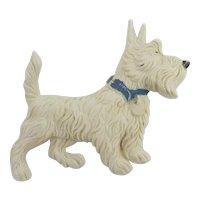 Scotty Scottish Terrier Dog Brooch Pin Vintage Art Deco c1930