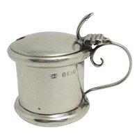 Sterling Silver Mustard Pot Antique Edwardian English 1903 by Levi & Salaman