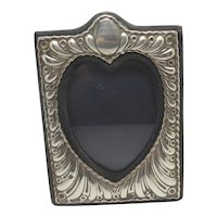 Sterling Silver Heart Photo Picture Frame English Vintage 1985