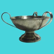 Art Nouveau Tri Handle Silver Plate Bowl Antique