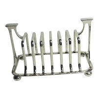 Silver Plate Toast Rack or Letter Rack Antique Art Nouveau