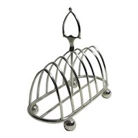 Silver Plate 7 Bar Toast Rack Vintage Art Deco c1920
