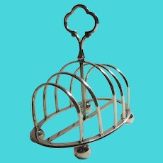 Silver Plate 5 Bar Toast Rack Antique Victorian c1890