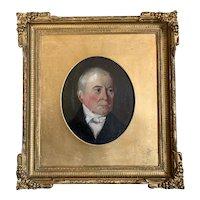 English School Oil On Board Portrait Of A Gentleman Antique Victorian c1890