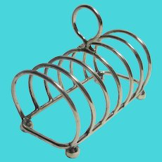 Silver Plate 7 Bar Toast Rack by Harrods London Vintage Art Deco c1920