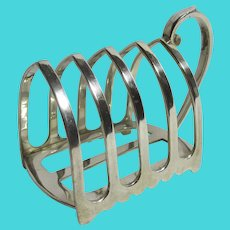 5 Bar Silver Plate Toast Rack Vintage Art Deco c1920