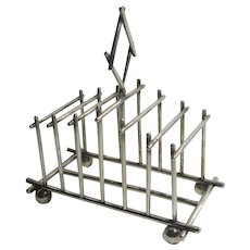 Aesthetic Silver Plate 7 Bar Toast Rack Antique Victorian c1890