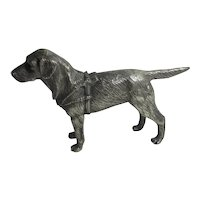 Pointer Dog Silver Plate Figure Vintage c1950