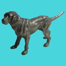 Gun Dog Figure Silver Plate Vintage c1950