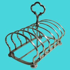 Silver Plate 7 Bar Toast Rack Antique Victorian c1890