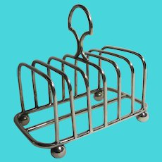 7 Bar Silver Plate Toast Rack Antique Victorian c1890