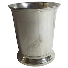The Famous Grouse Scotch Whisky Silver Plate Ice Bucket Vintage c1950