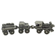 Continental Sterling Silver Miniature Steam Train Vintage c1980