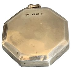 Sterling Silver Rouge Pot Or Pill Box Vintage Birmingham 1930