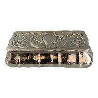 Sterling Silver Trinket Box Made by Henry Matthews Antique Art Nouveau Birmingham 1901