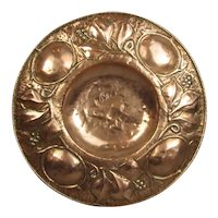 Arts and Crafts Copper Charger Antique Victorian c1880