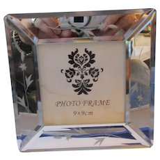 Small Mirrored Glass Photo Frame Contemporary C2000.