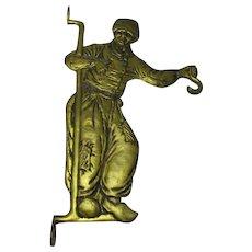 Brass Hanging Bracket Antique Dutch C1910.