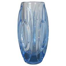 Vintage 'Lens' Czech Art Glass Vase by Rudolf Schrotter for SKLO Union c1955.
