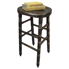 Painted Pine Pub Stool Vintage c1920