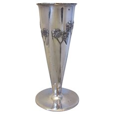 Antique Arts & Crafts Archibald Knox for Liberty & Co Tudric Posy Vase c1900.