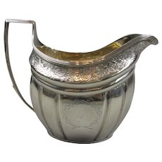 Sterling Silver Cream Jug Antique Georgian London 1804.