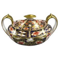 Royal Crown Derby Imari Pattern Double Handled Sugar Bowl Vintage