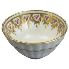 New Hall Porcelain Fluted Tea Bowl Antique Georgian c1790
